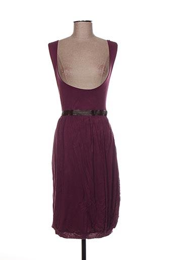 Robe mi-longue violet DANNIEL BRUNNI pour femme