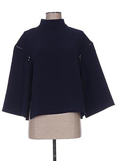 T-shirt manches longues bleu CUBIC pour femme