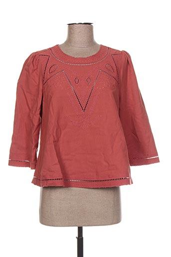 the korner chemises femme de couleur rouge