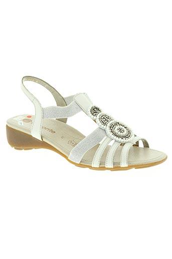 remonte chaussures femme de couleur blanc