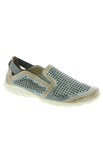 remonte chaussures femme de couleur bleu