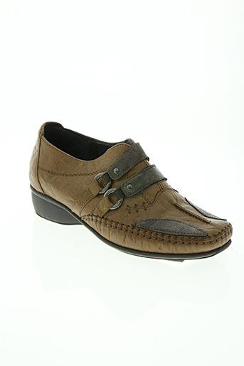 flexell chaussures femme de couleur marron