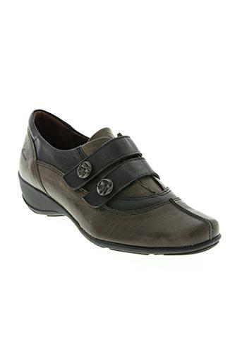dorking chaussures femme de couleur marron