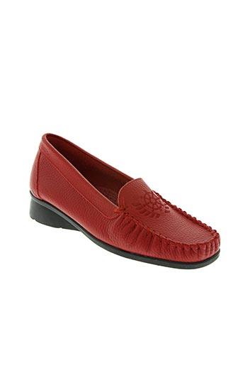 kim chaussures femme de couleur rouge