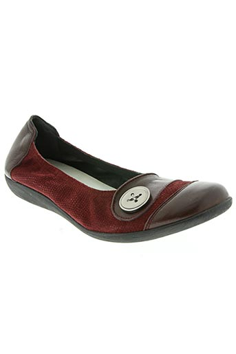 elegia chaussures femme de couleur rouge