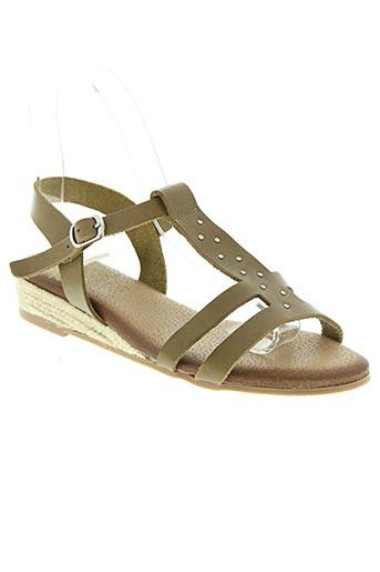 ayoka chaussures femme de couleur vert
