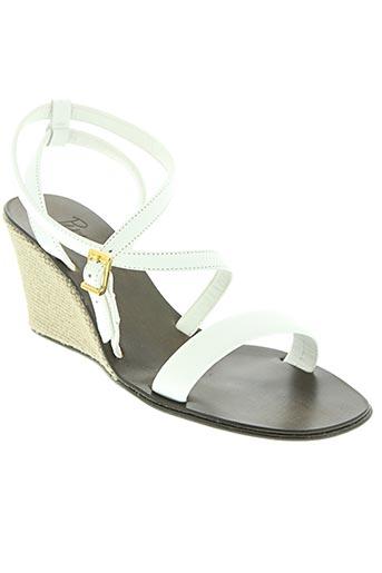 paradoxale chaussures femme de couleur blanc