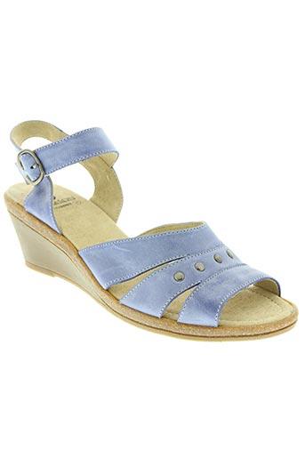 samson chaussures femme de couleur bleu