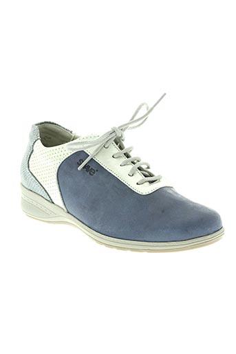 suave chaussures femme de couleur bleu