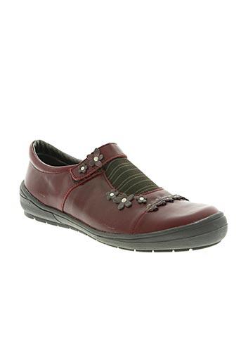bopy chaussures femme de couleur rouge