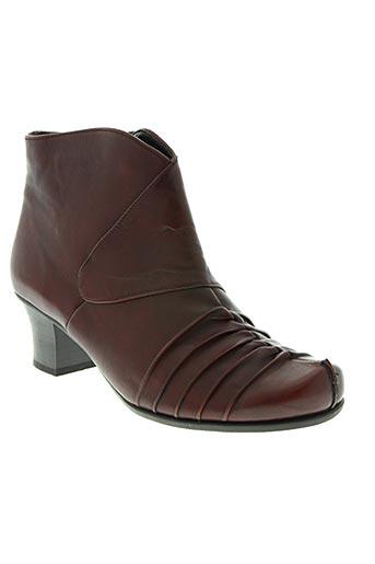 remonte chaussures femme de couleur rouge