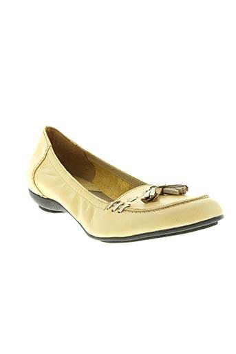 lundi bleu chaussures femme de couleur beige