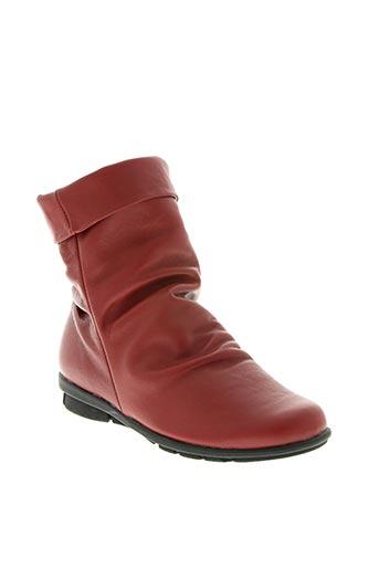 spiffy chaussures femme de couleur rouge