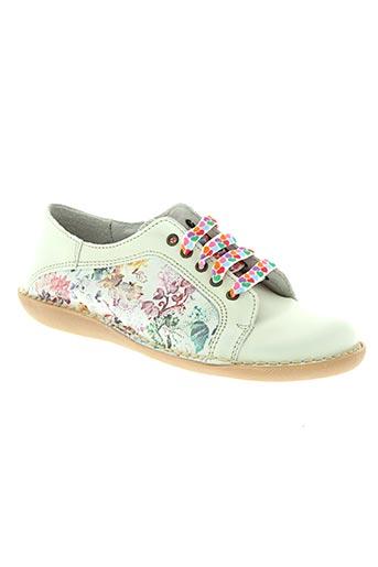 bran's chaussures fille de couleur blanc
