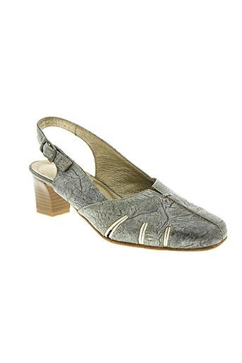 pedi girl chaussures femme de couleur gris