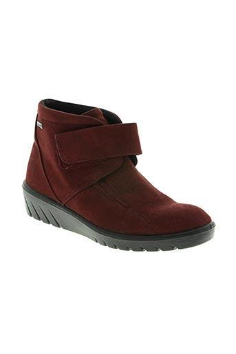 romika chaussures femme de couleur rouge