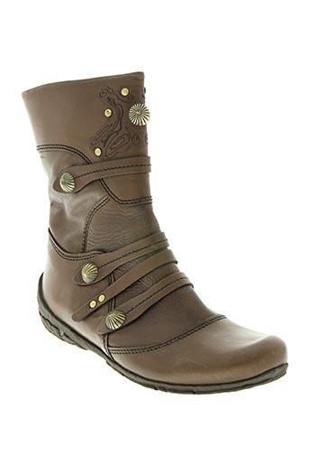 bocage chaussures femme de couleur marron