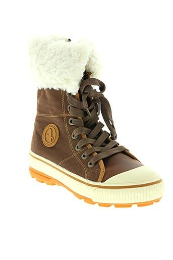 aigle chaussures fille de couleur marron