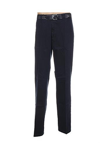 griffe noire pantalons homme de couleur bleu