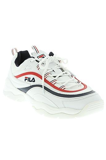 fila chaussures homme de couleur blanc