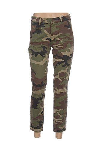 Pantalon 7/8 vert AVIDA DOLLARS pour femme