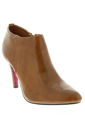 jm.diamant chaussures femme de couleur marron