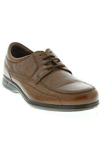 baerchi chaussures homme de couleur marron