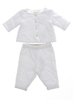 Veste/pantalon blanc CHLOE pour fille