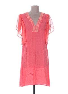 Robe courte rose CHARLISE pour femme