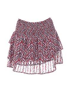 Jupe mi-longue rouge CHARLISE pour femme