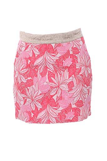 Jupe courte rose CHARLISE pour femme