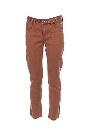 chattawak pantalons femme de couleur marron