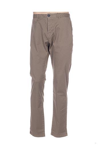 Pantalon casual beige ONE STEP pour homme