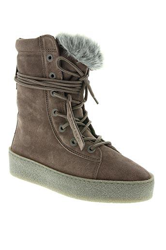 bronx chaussures femme de couleur gris