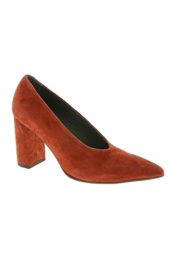 rosemetal chaussures femme de couleur orange