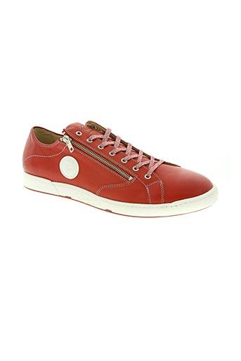 pataugas chaussures homme de couleur rouge