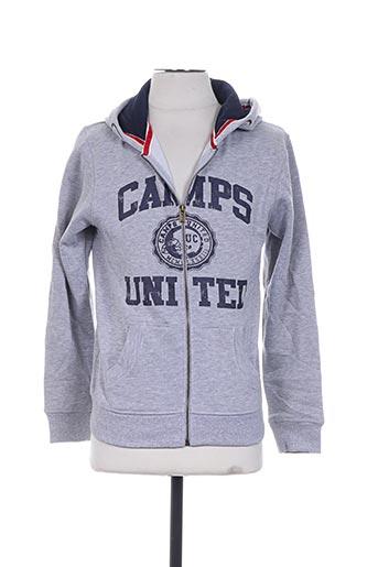 camps vestes garçon de couleur gris