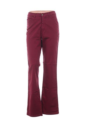Pantalon casual rouge BIRGINI pour femme