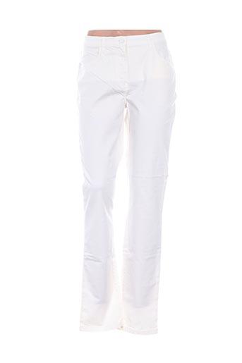 Pantalon casual blanc D'AUVRY pour femme