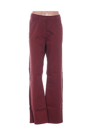 Pantalon casual rouge D'AUVRY pour femme