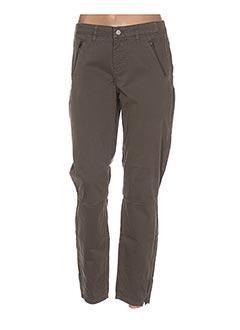 Pantalon 7/8 marron EXPRESSO pour femme