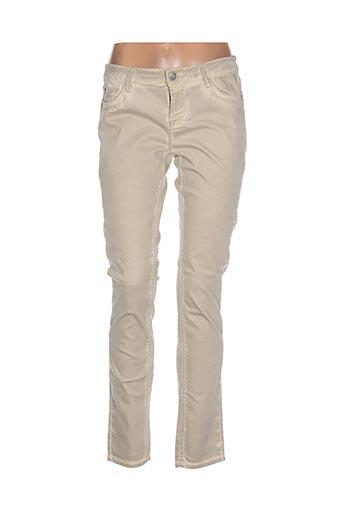 cks pantalons femme de couleur beige
