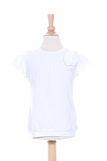 confetti t-shirts fille de couleur blanc