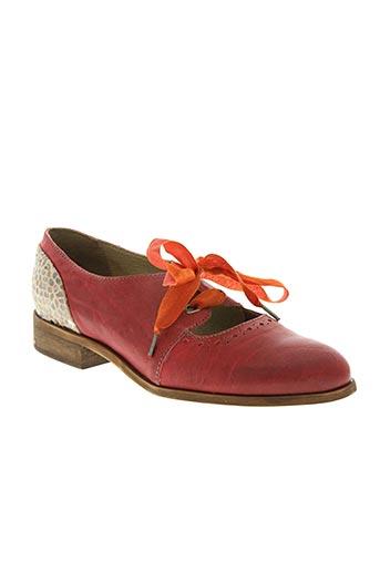 dkode chaussures femme de couleur rouge