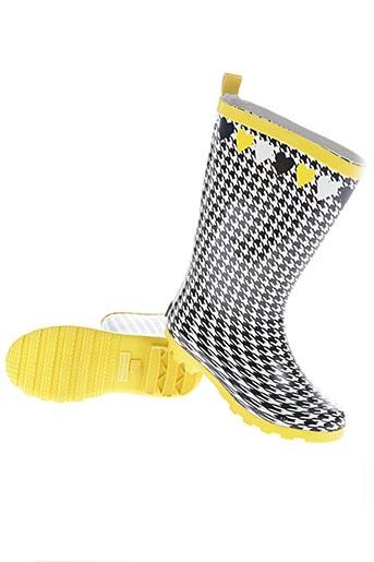 tuc tuc chaussures fille de couleur jaune
