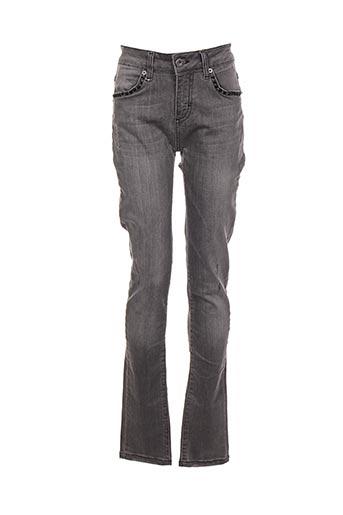 Jeans coupe slim gris SO SOON pour femme