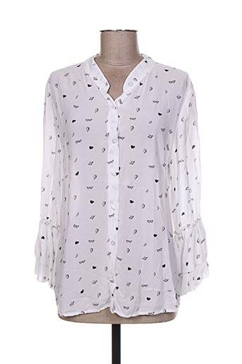 so soon chemises femme de couleur blanc