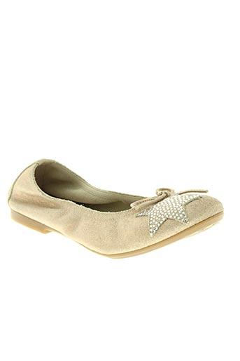 reqins chaussures fille de couleur beige