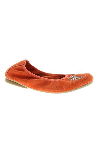 Ballerines orange REQINS pour fille