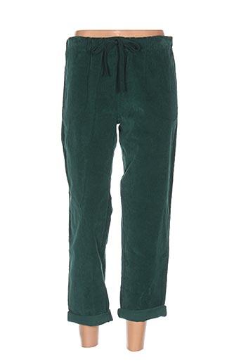 johanna paris pantalons femme de couleur vert